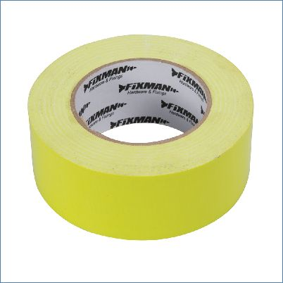 Fixman 188245 50 mm x 50 m Robustes Gewebeband in Signalfarbe