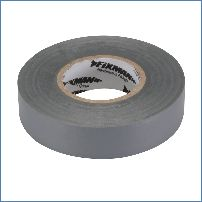 Fixman 188969 19 mm x 33 m, grau Isolierband