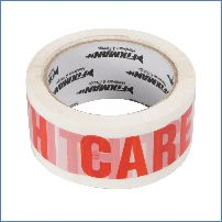 "Fixman 191975 48 mm x 66 m Paketband mit Aufdruck ""Handle With Care"""