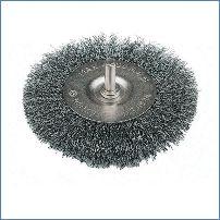 vermessingt Silverline 208542 Stahldraht-Topfb/ürste gewellt 75 mm